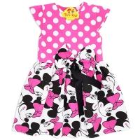 Rochita fetite 2-8 ani, Minnie Mouse, fundita, roz