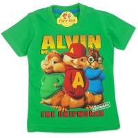 Tricou bumbac copii 3-8 ani, Alvin si veveritele
