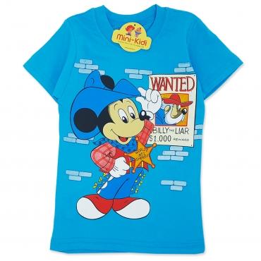 Compleu de vara copii 3-8 ani, Mickey Mouse, albastru