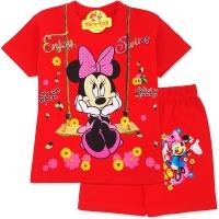 Compleu de vara copii 3-8 ani, Minnie Mouse, rosu