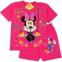 Compleu de vara copii 3-8 ani, Minnie Mouse, fuchsia
