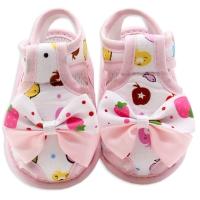 Sandale bebelusi fetite 0-9 luni, fundita, roz