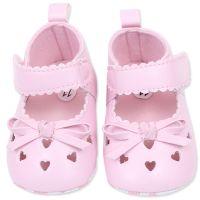 Balerini roz, bebelusi fetite 0-12 luni, inimioare