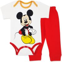 Costumas bumbac bebelusi 1-6 luni, Mickey Mouse