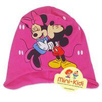 Caciula din bumbac captusit, copii 6 luni-3 ani, Minnie Mouse, fuchsia