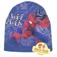 Caciula tip fes, bumbac, copii 2-7 ani, Spiderman, albastru