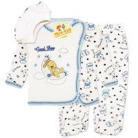 Costumas bumbac, bebelusi 3-6 luni, Iepuras