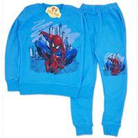 Trening bumbac baieti 3-8 ani, Spiderman, albastru