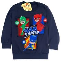 Bluza bumbac copii 9 luni-4 ani, PJ Masks, gri petrol