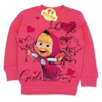 Bluza bumbac fetite 9 luni-4 ani, Masha, roz
