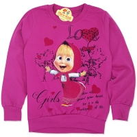 Bluza bumbac fetite 4-9 ani, Masha, mov