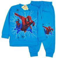 Trening bumbac, copii 2-7 ani, Spiderman, turcoaz