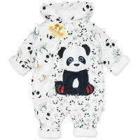 Combinezon gros din fas, bebelusi 1-6 luni, Panda