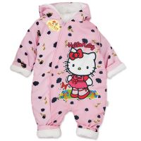Combinezon gros din fas, bebelusi 1-9 luni, Hello Kitty