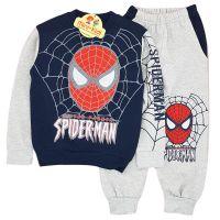 Trening bumbac gros, baieti 2-7 ani, Spiderman, bleumarin