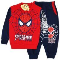 Trening bumbac gros, baieti 2-7 ani, Spiderman, rosu