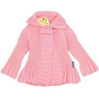 Jacheta tricotata fetite 3-12 luni, roz