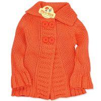 Jacheta tricotata fetite 3-12 luni, portocaliu
