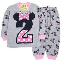 Pijamale bumbac fetite 9 luni-2 ani, Minnie Mouse, gri