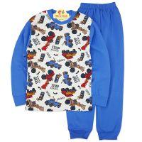 Pijamale bumbac baieti 6-9 ani, masinute