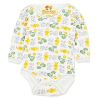 Body bumbac copii 0-6 luni, Zebre, verde-galben