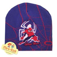 Caciula tip fes din tricot dublat pentru copii 2-11 ani, Spiderman