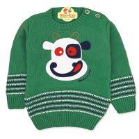 Pulover tricotat copii 1-3 ani, vacuta, verde