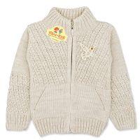 Jacheta tricotata fetite 9 luni-3 ani, bej, pasare