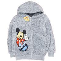 Hanorac gros din cocolino baieti 6-10 ani, gri, Mickey Mouse