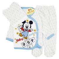Costumas bumbac bebelusi 1-3 luni, Mickey Mouse