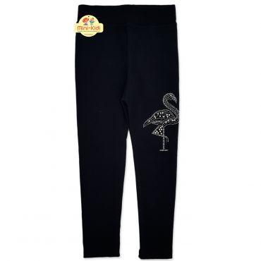 Pantaloni grosi tip colanti fetite 5-9 ani, negru