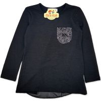 Bluza neagra, eleganta, fetite 5-9 ani