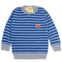 Bluza tricotata subtire baieti 4-7 ani, pulover dungi