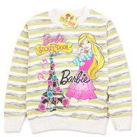 Bluza bumbac fetite 2-7 ani, Barbie, dungi