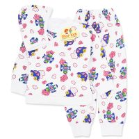 Pijamale din bumbac copii 6 luni-3 ani, 3 piese, masinute si avioane