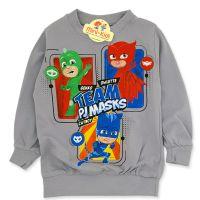Bluza bumbac copii 9 luni-4 ani, PJ Masks, gri