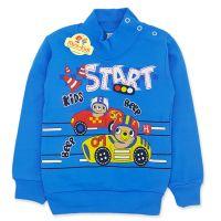Bluza groasa baieti 9 luni-4 ani, cursa de masinute