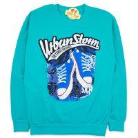 Bluza bumbac copii 7-13 ani, urban storm, vernil