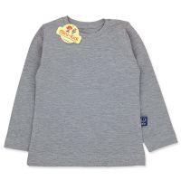 Bluza gri din bumbac pentru copii 9 luni-4 ani