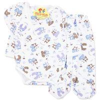Costumas bumbac bebelusi 1-12 luni, ursuleti