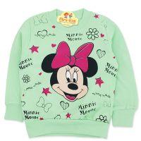 Bluza bumbac fetite 9 luni-4 ani, Minnie Mouse, verde