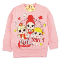 Bluza bumbac fetite 9 luni-4 ani, surorile LOL, roz pal