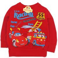Bluza bumbac copii 9 luni-4 ani, cursa de masini, rosu