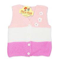 Vesta tricotata fetite 1-4 ani, dungi, floricele