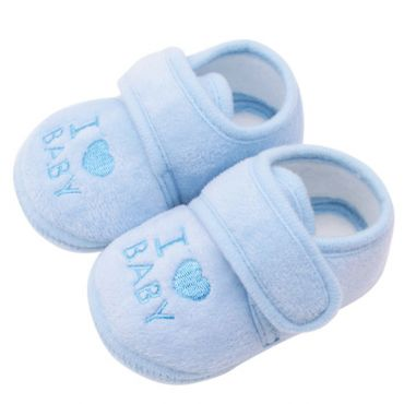 Incaltaminte - botosei bebelusi 0-9 luni, love baby, bleu