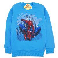 Bluza bumbac baieti 5-7 ani, Spiderman, albastru