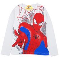 Bluza bumbac baieti 4-9 ani, Spider-Man, alb