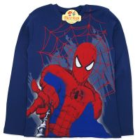 Bluza bumbac baieti 4-13 ani, Spider-Man, bleumarin