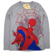 Bluza bumbac baieti 9-13 ani, Spiderman, gri