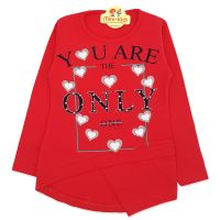 Bluza asimetrica fetite 3-7 ani, the only one
